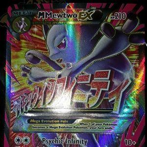 Pokemon Mewtwo EX Mega like New condition. See pic